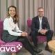 Kuvassa Virpi Hentunen, Henkilöstö- ja talousjohtaja, Lääkärikeskus Aava Oy, ja Matti Junttonen, Account Manager, Palette Software Oy